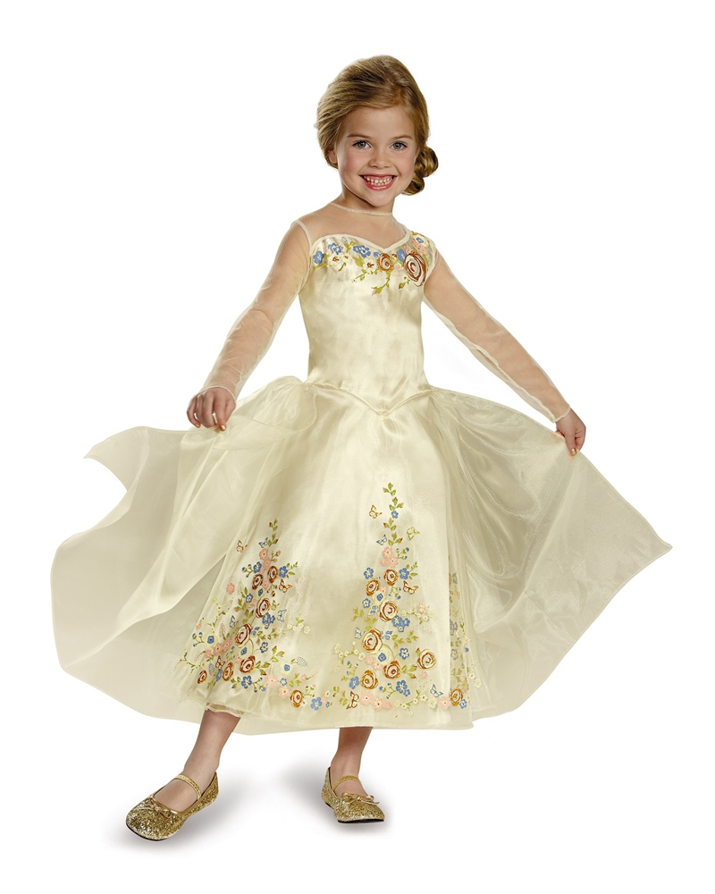 Princess Cinderella Wedding Dress Costume For: Cinderella Movie Wedding Dress Child Costume