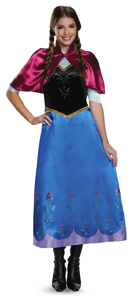 [Frozen Deluxe Traveling Anna Adult Womens Costume] (Frozen Costumes Women)