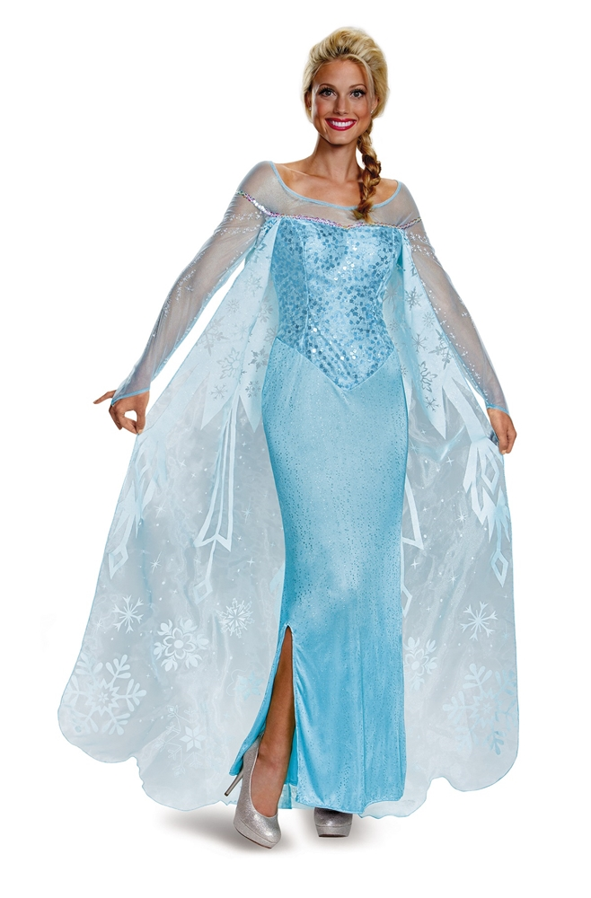 [Frozen Elsa Prestige Adult Womens Costume] (Frozen Costumes Women)