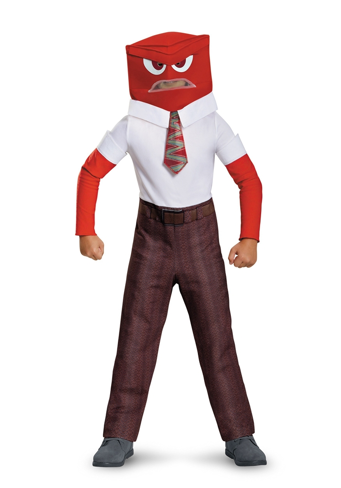 Inside Out Movie Classic Anger Child Costume