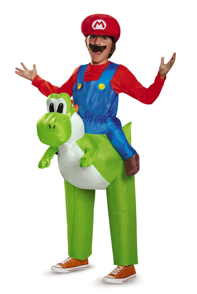 Super Mario Brothers Mario Riding Yoshi Inflatable Child Costume