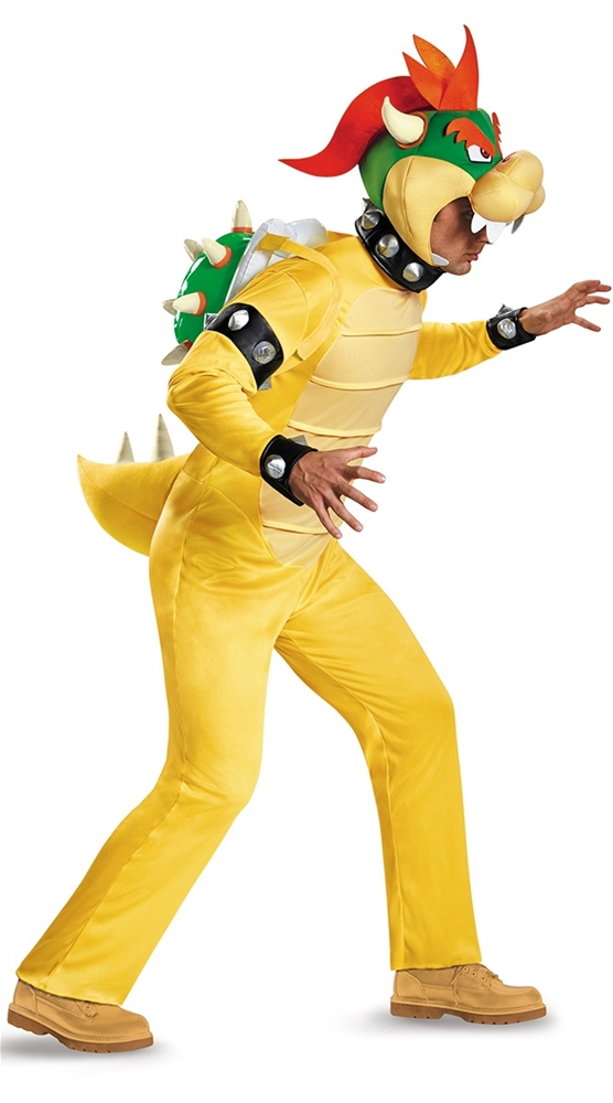 Super Mario Brothers Deluxe Bowser Adult Mens Costume