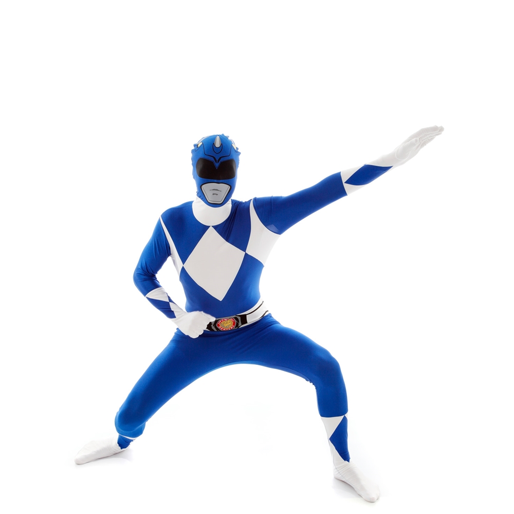 Blue Power Ranger Morphsuit Adult Unisex Costume (Blue Power)