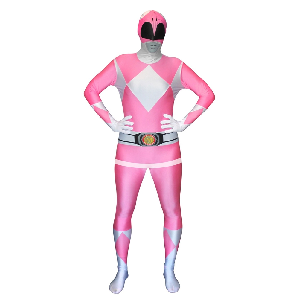 Pink Power Ranger Morphsuit Adult Unisex Costume