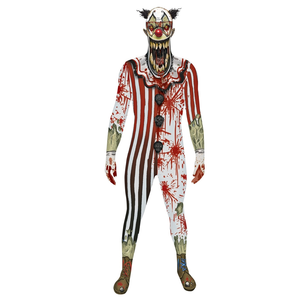 Jaw Dropper Clown Morphsuit Adult Unisex Costume