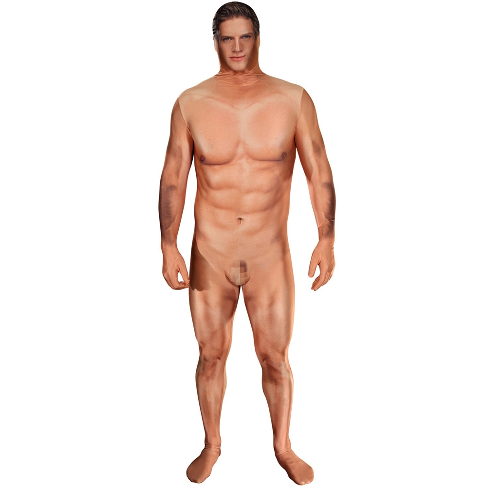 Naked Censored Man Morphsuit Adult Unisex Costume
