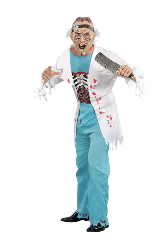 Zombie Doctor Adult Mens Costume (Zombie Doctor Costumes)