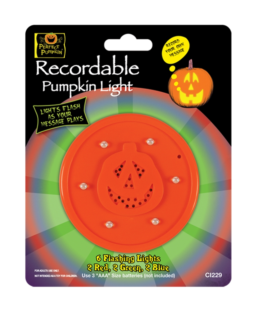Recordable Pumpkin Light
