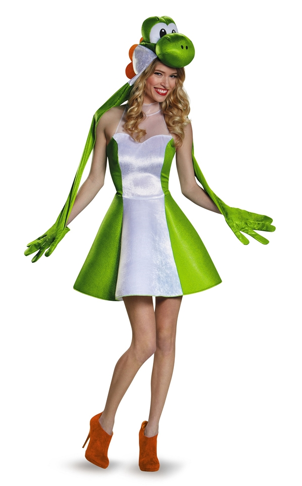 Super Mario Brothers Sassy Yoshi Adult Womens Costume