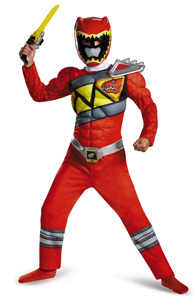 Power Rangers Dino Charge Red Ranger Muscle Child Costume by Disguise