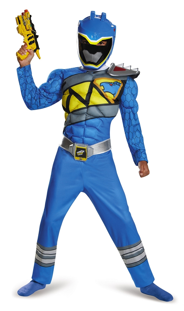 Power Rangers Dino Charge Blue Ranger Muscle Child Costume (Blue Power)
