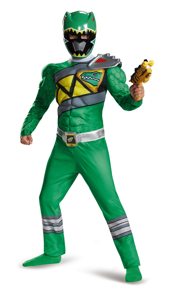 Power Rangers Dino Charge Green Ranger Muscle Child Costume by Disguise