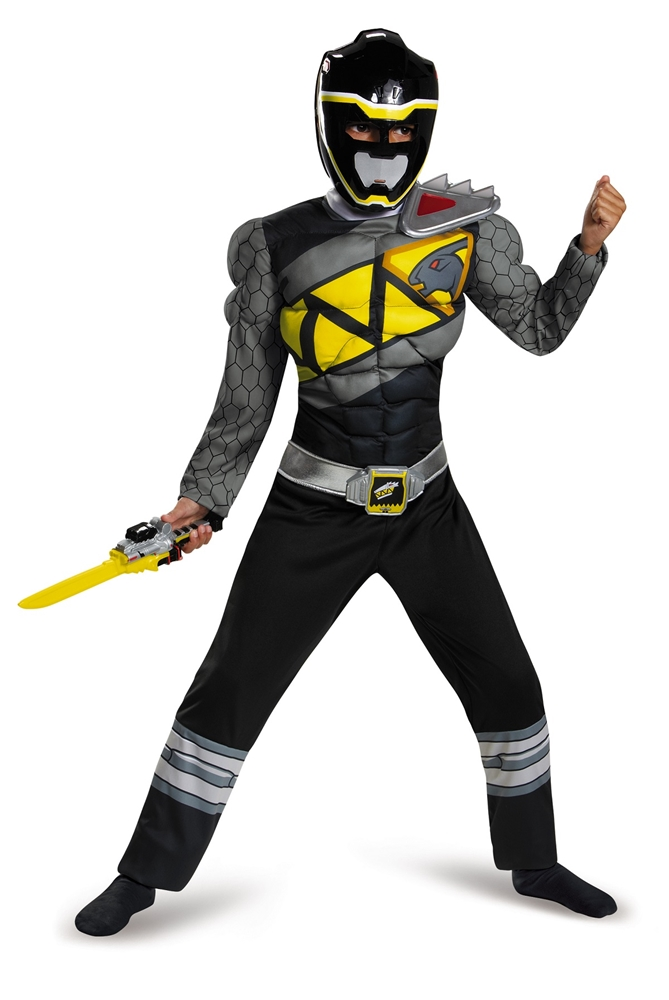 Power Rangers Dino Charge Black Ranger Muscle Child Costume by Disguise