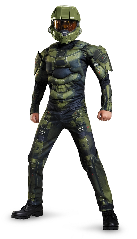 Halo Deluxe Master Chief Muscle Child Costume (Halo Costume Child)