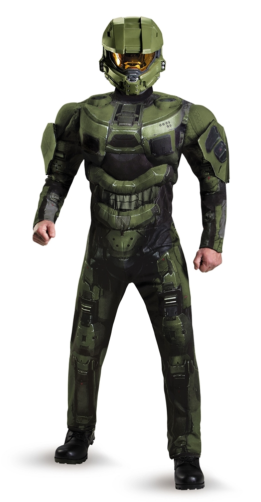 Halo Deluxe Master Chief Muscle Teen Costume