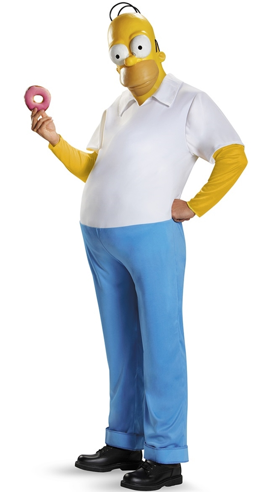 The Simpsons Homer Deluxe Adult Mens Plus Size Costume