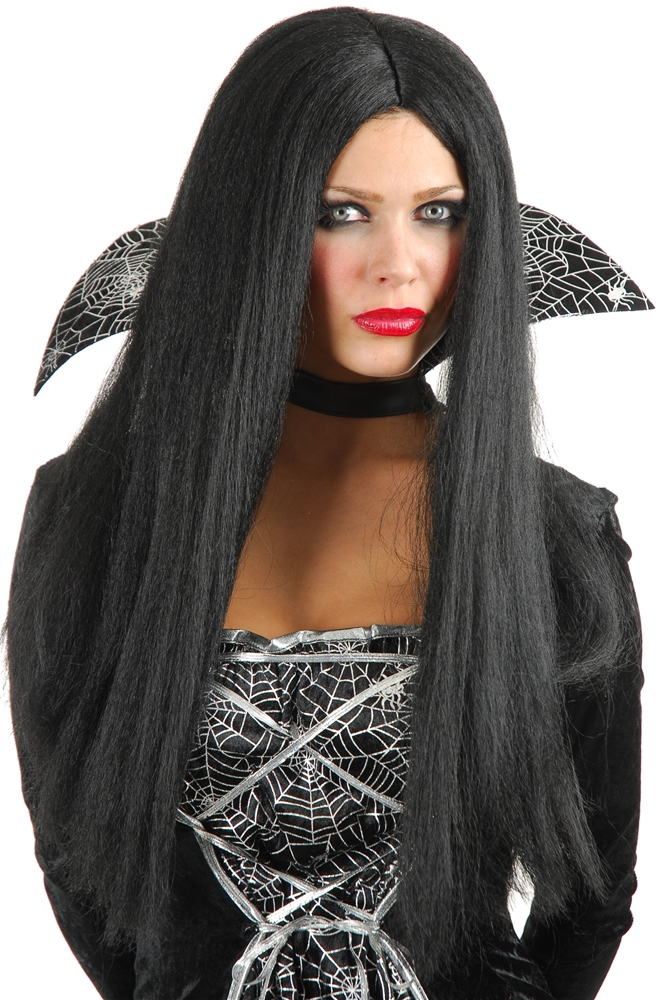 Priestess Long Black Wig