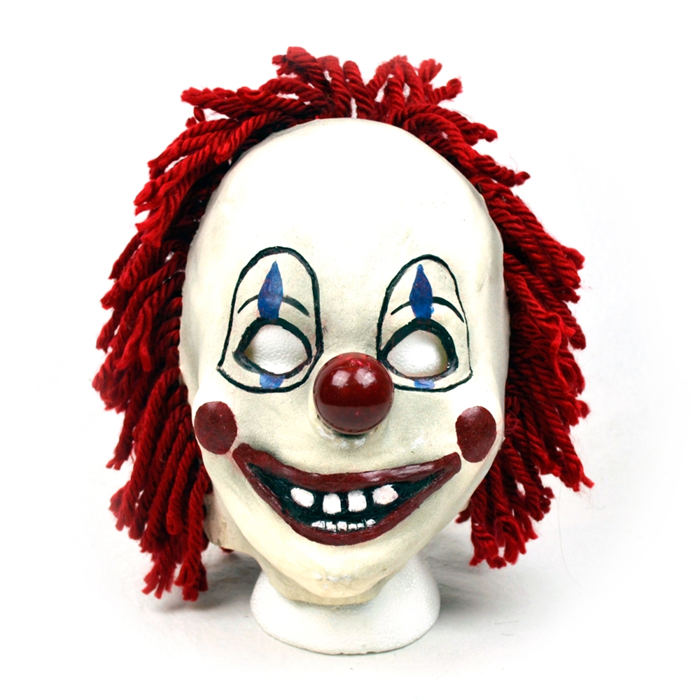 Clown with Red Yarn Mask