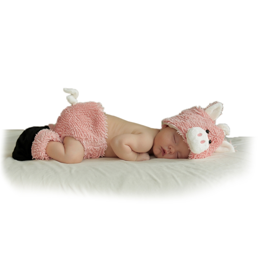 Cuddly Piglet Newborn Costume Set