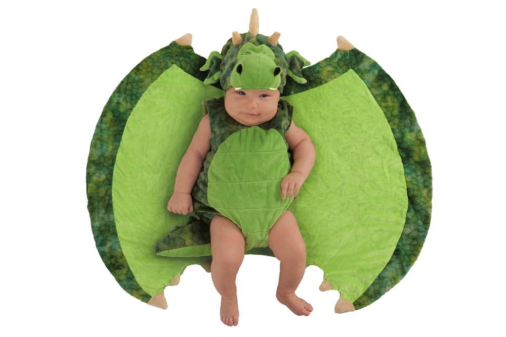 Darling Dragon Newborn Costume with Swaddle Wings