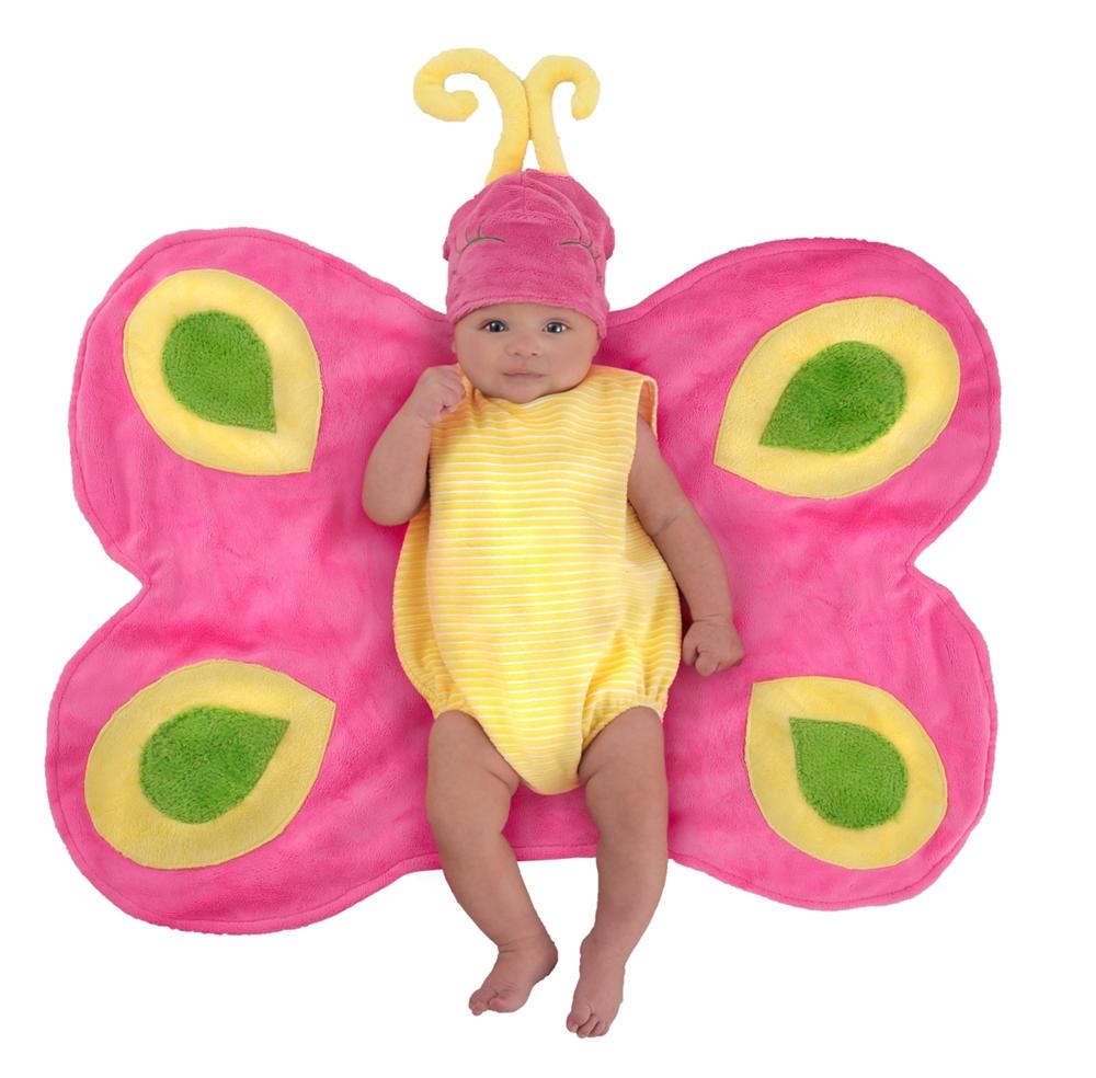 Beautiful Butterfly Caterpillar Newborn Costume with Swaddle Wings (Caterpillar Costume)