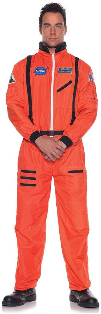 Orange Astronaut Jumpsuit Adult Mens Costume