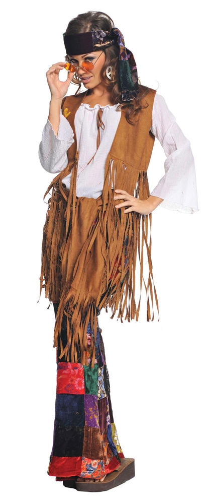 60s Peace Out Hippie Adult Womens Costume by Underwraps