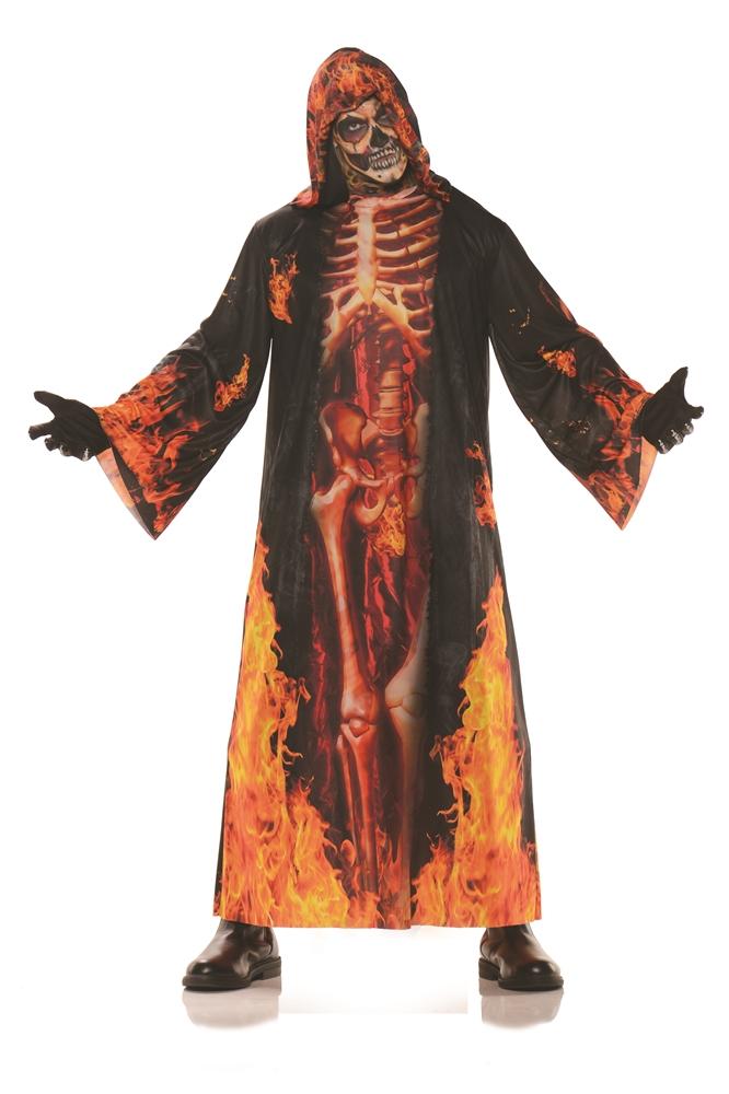 Underworld Burning Skeleton Adult Robe