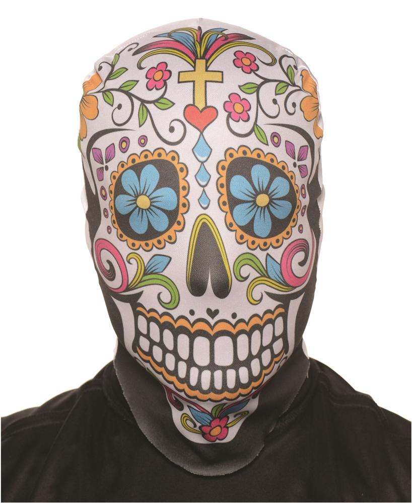 Sugar Skull Skin Mask - 356034 | trendyhalloween.com