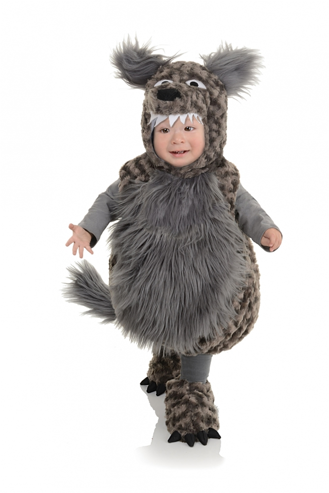 Fuzzy Wolf Toddler Costume (Toddler Wolf Costume)