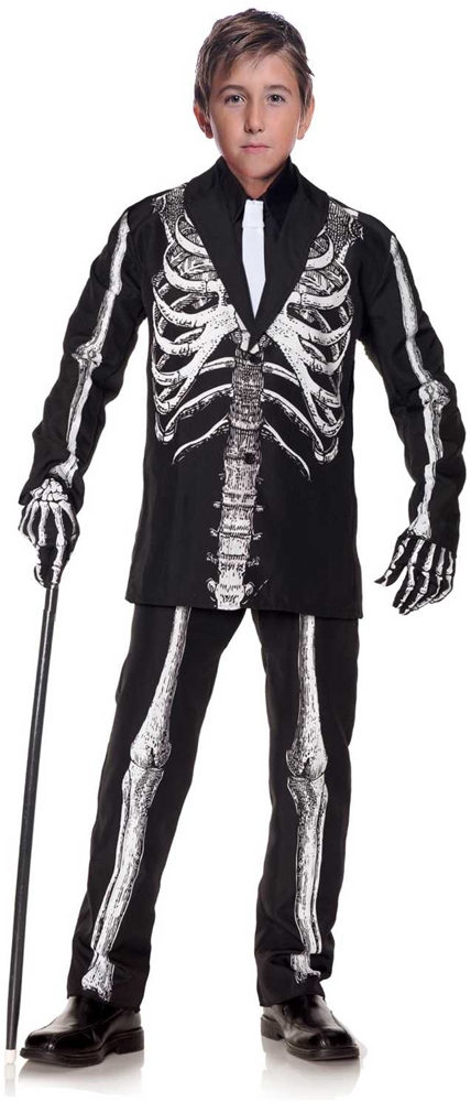 Black Skeleton Suit Child Costume by Underwraps
