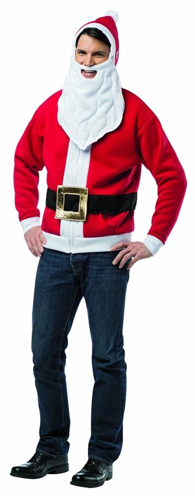Santa Adult Mens Hoodie (Santa Hoodie)