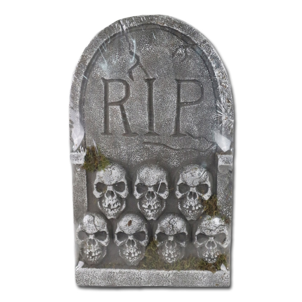 RIP Tombstone with Skull 22in
