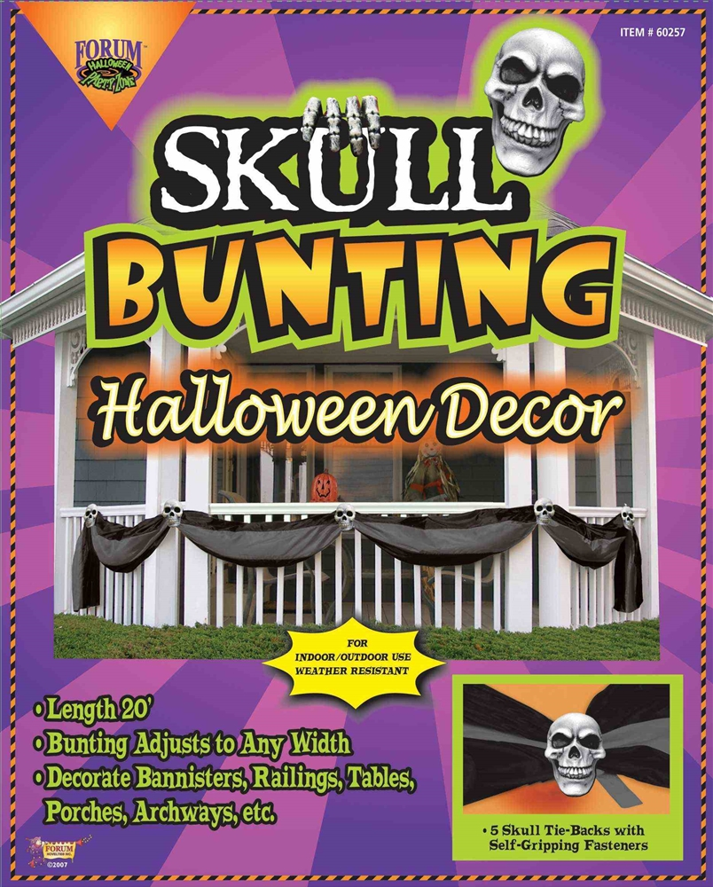 Skull Bunting Halloween Decor