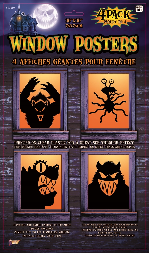 Freaky Monsters Window Posters