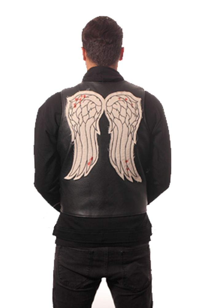 The Walking Dead Daryl Dixon Faux Leather Adult Mens Vest by Piston Clothing