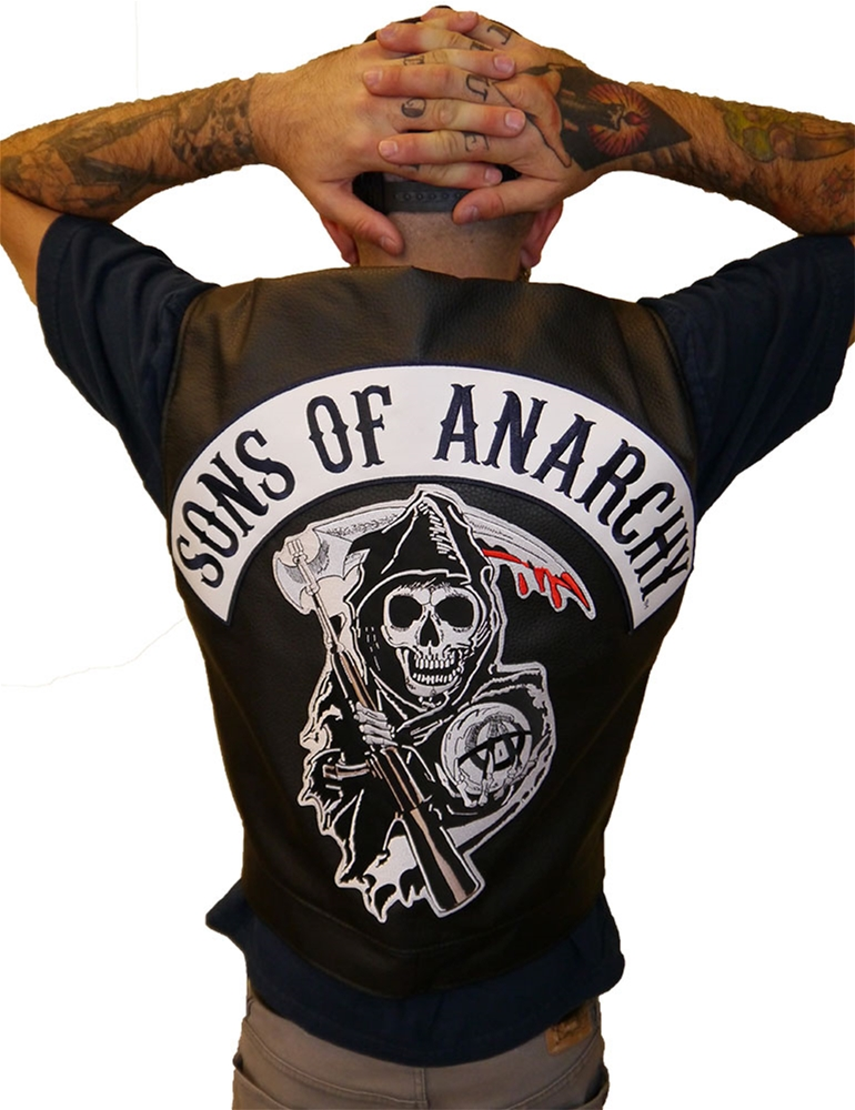 Sons of Anarchy Faux Leather Adult Mens Vest by Piston Clothing