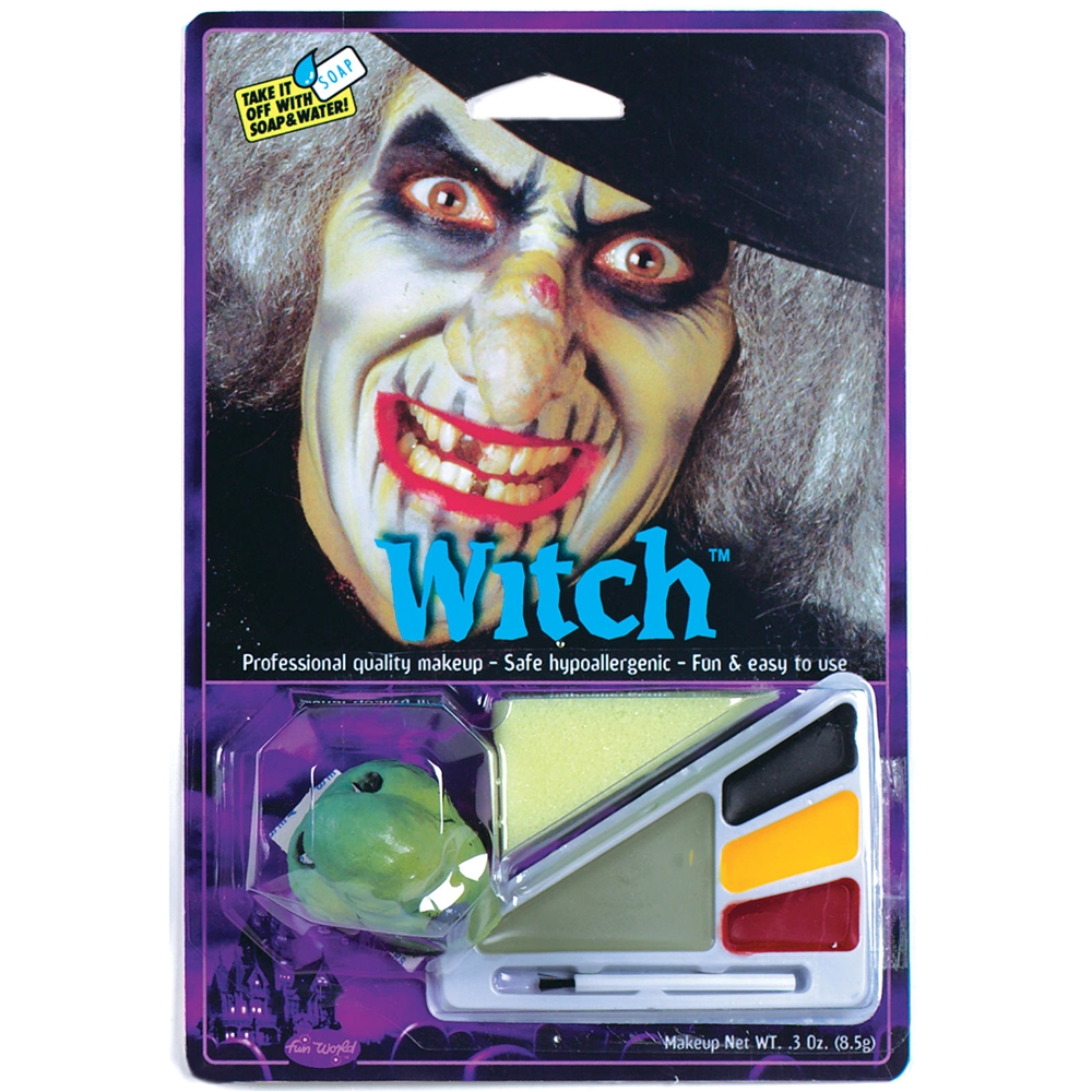 Witch Makeup Kit with Nose
