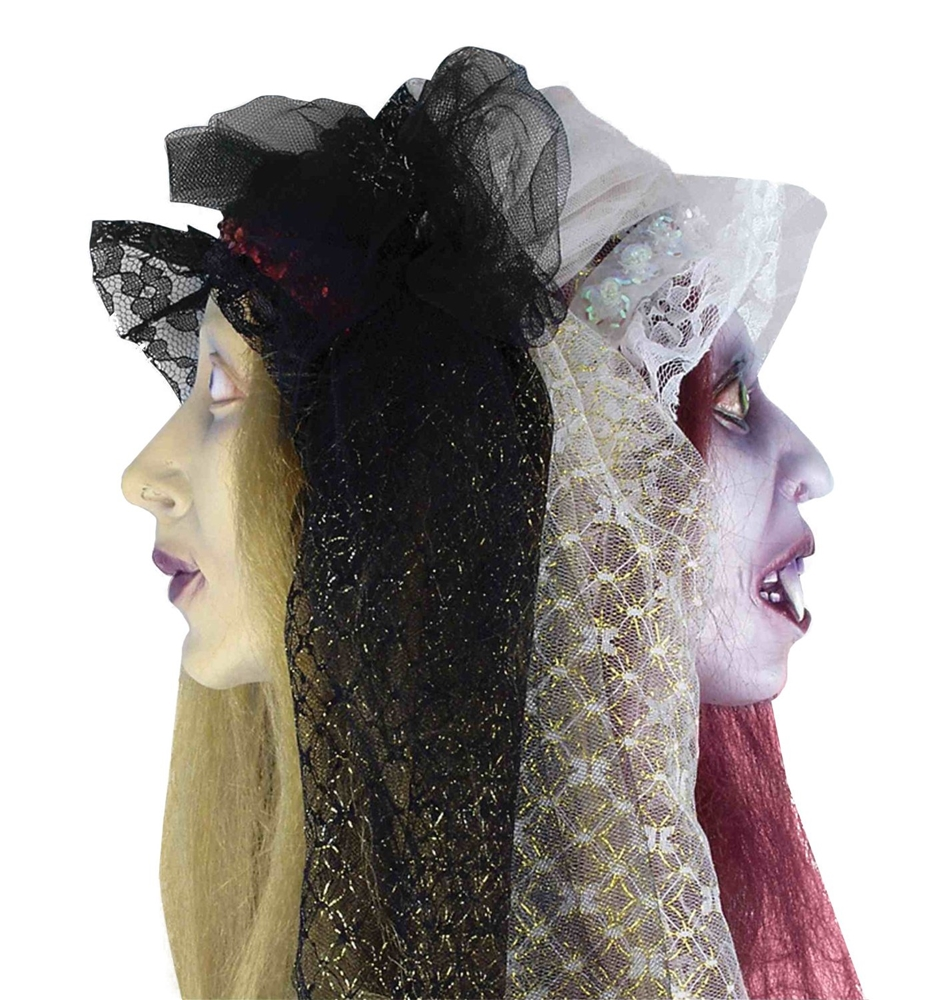 Two Sided Bride Severed Head Prop