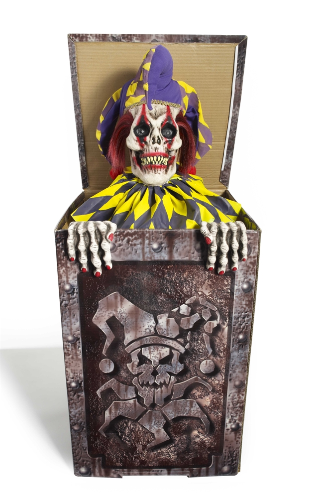 Zombie Jester in the Box Animated Prop