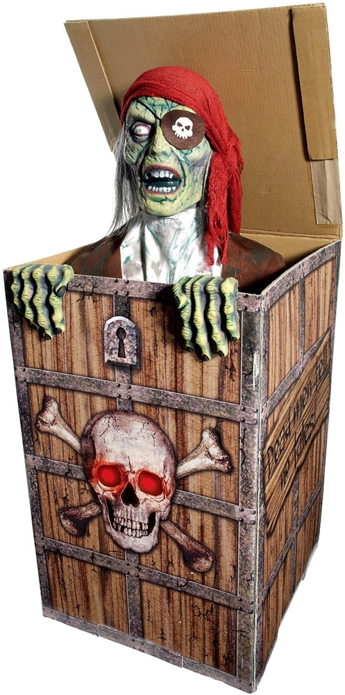 Zombie Pirate in the Box Animated Prop