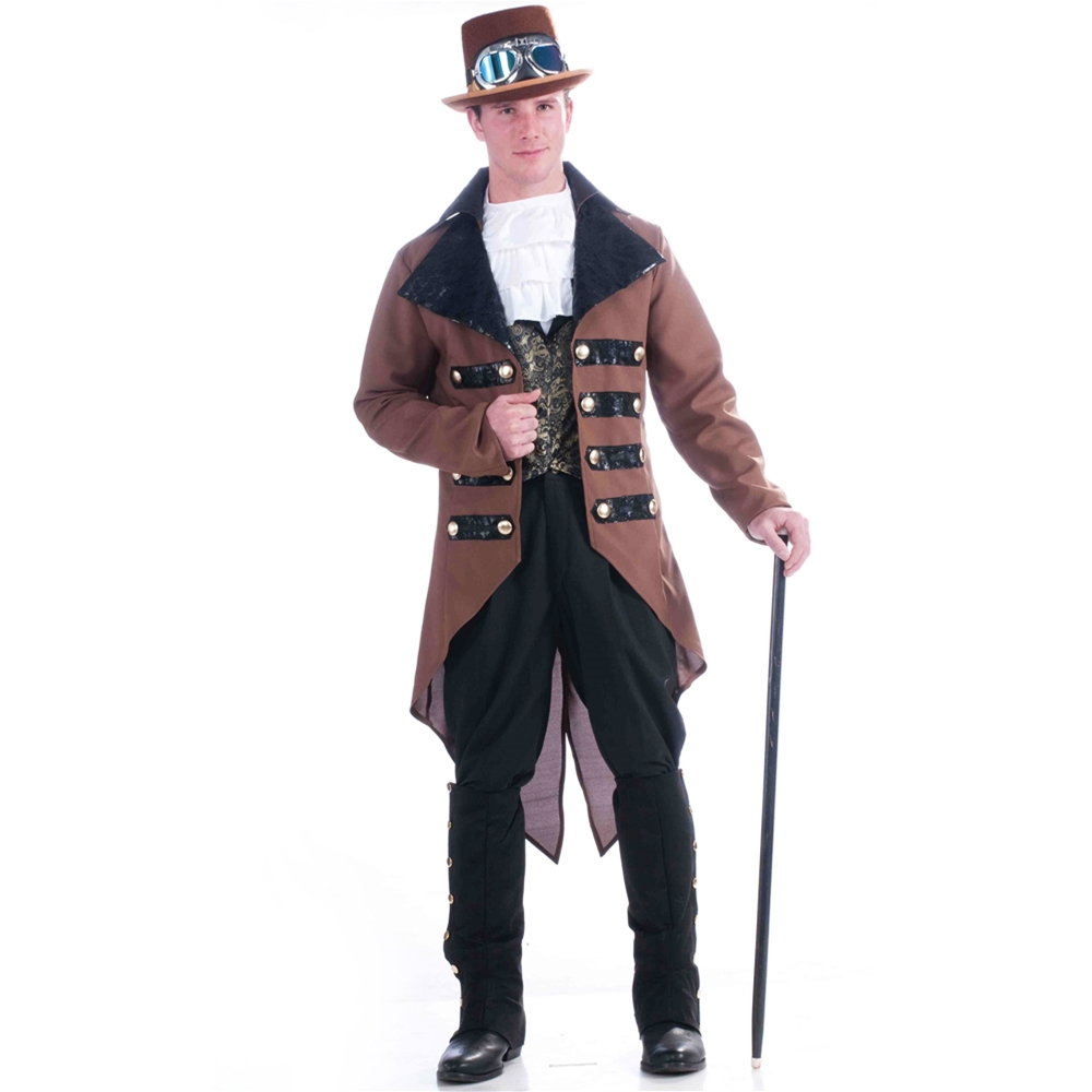 Steampunk Traveler Adult Mens Jacket