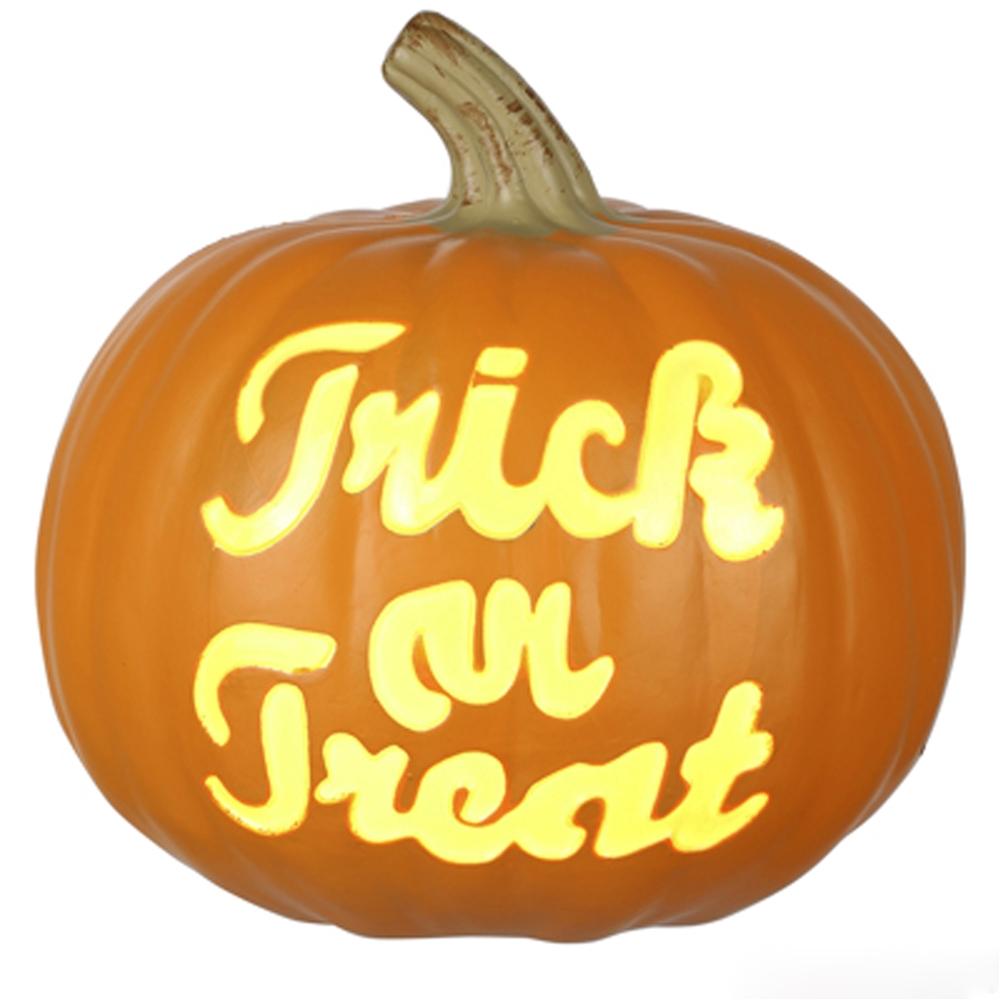 Www Halloween Decorating Ideas: Trick Or Treat Illuminated Pumpkin