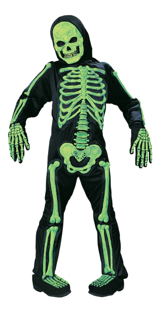 Green Totally Skelebones Child Costume