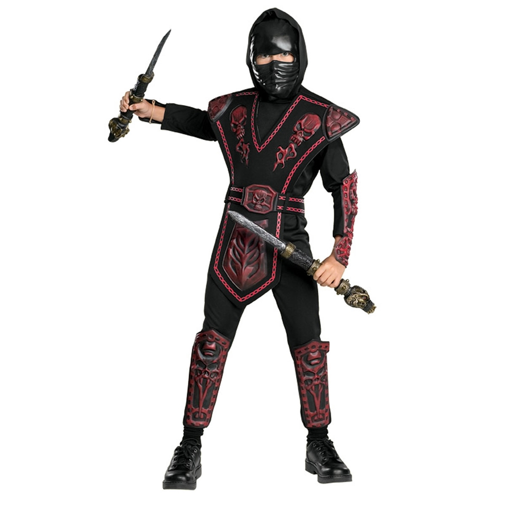 Red Skull Warrior Ninja Child Costume (Red Skull Costume)