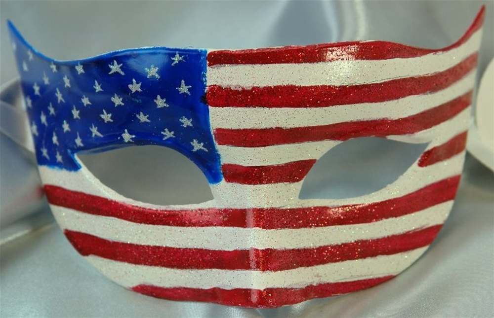 American Flag Masquerade Mask