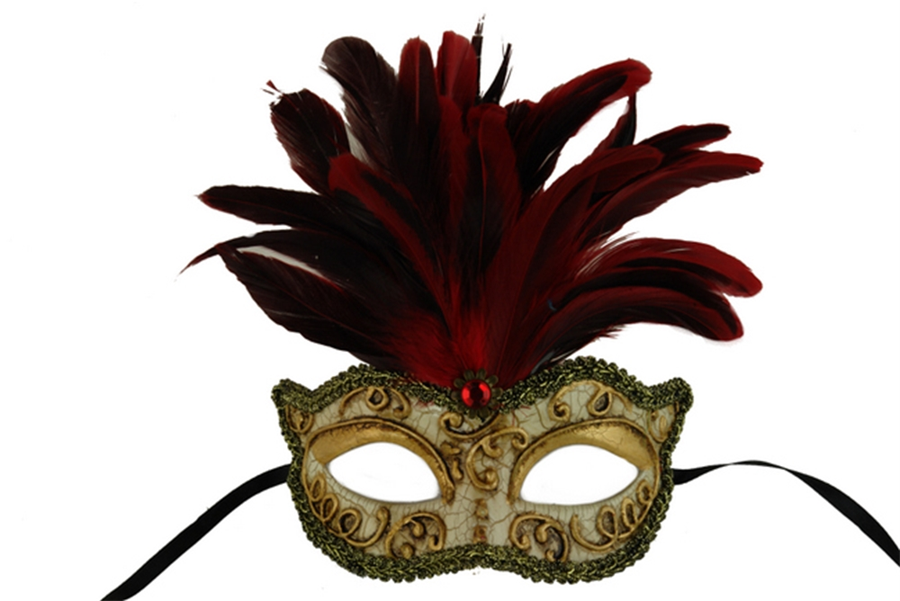 Harmony Masquerade Mask with Feathers (More Colors) (Feathered Masquerade Mask)