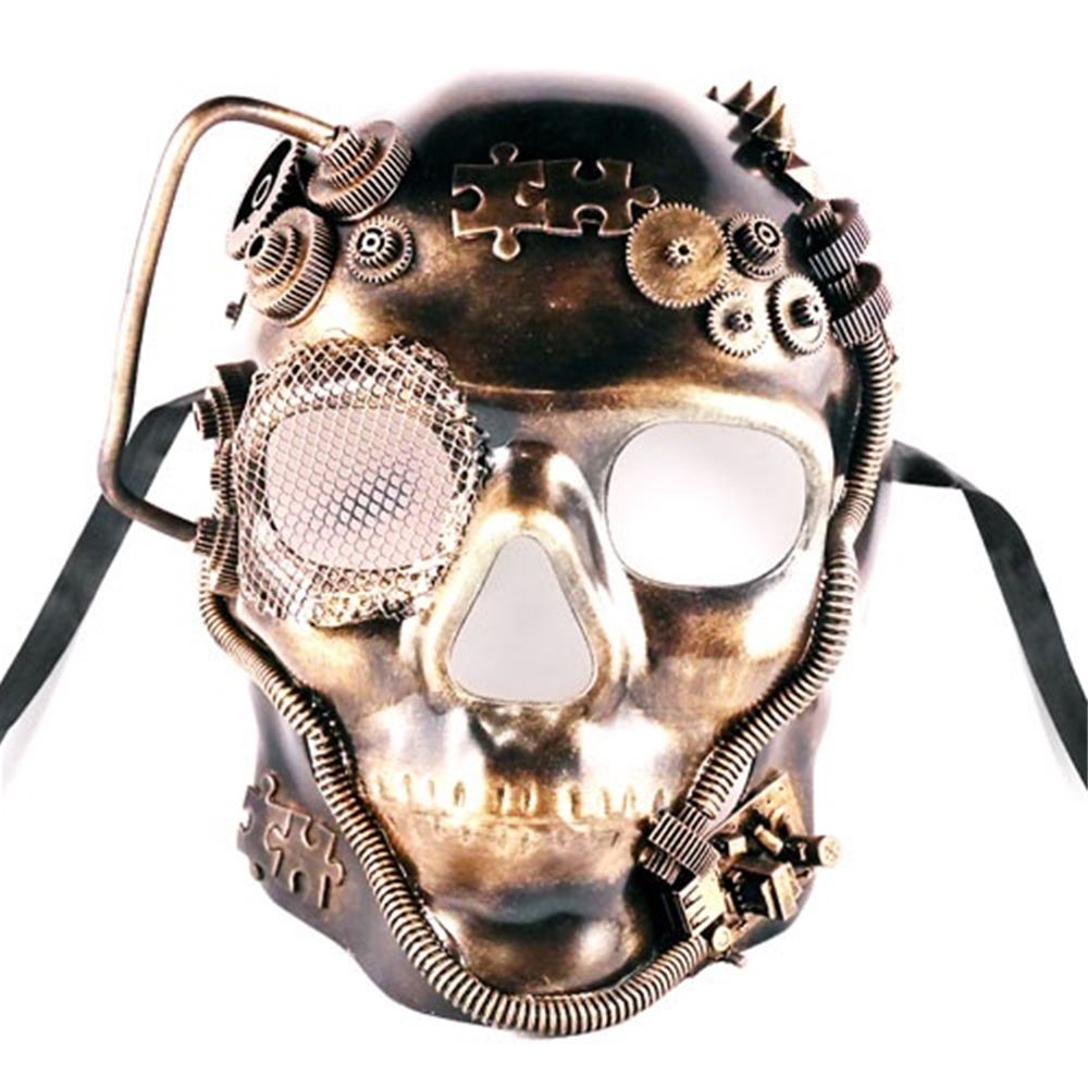 Steampunk Skull Mask (More Colors)