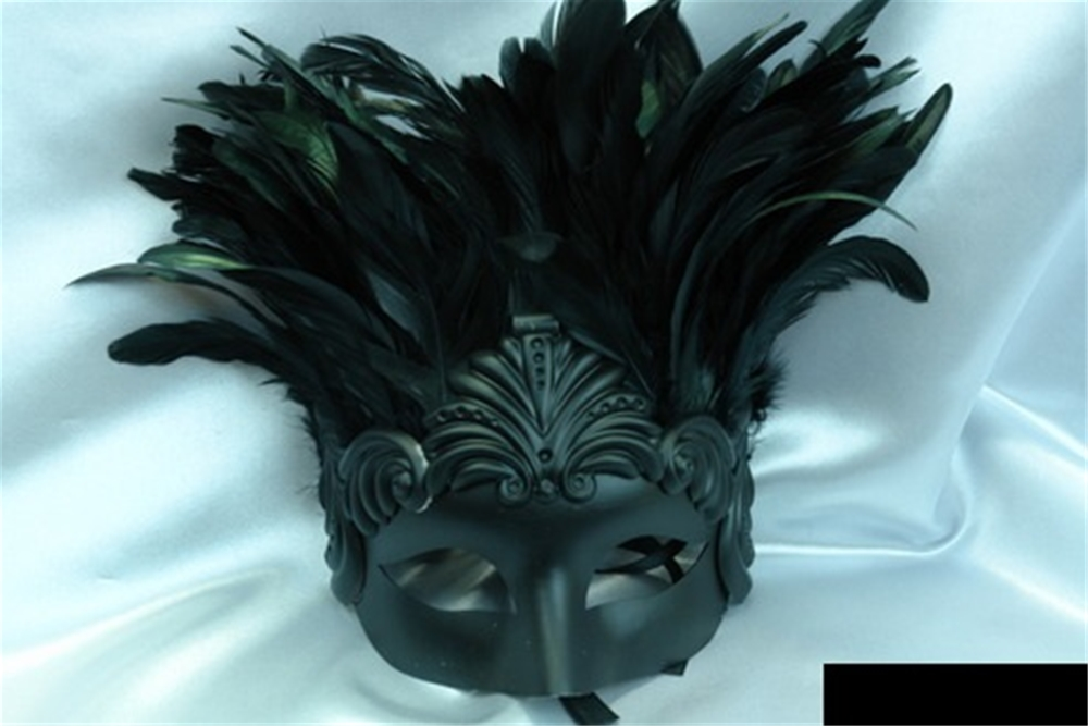 Venetian Prince Masquerade Mask with Feathers (More Colors)
