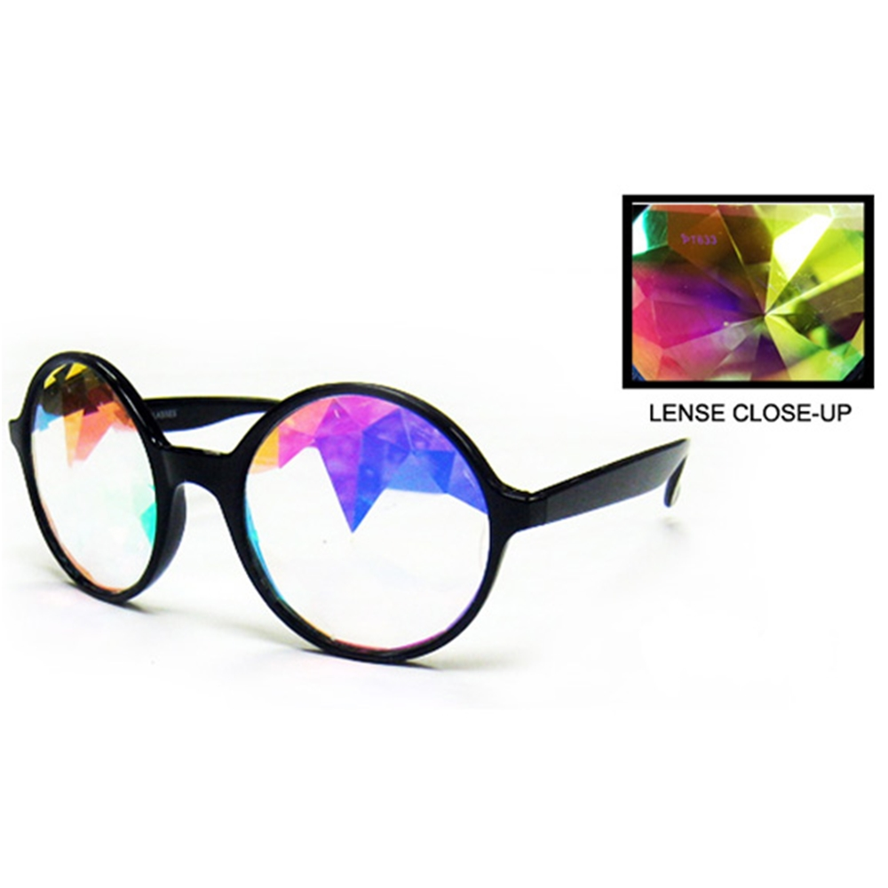 Kaleidoscope Round Glasses (More Colors)